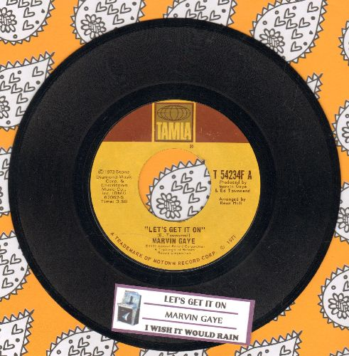Gaye, Marvin - Let's Get It On/I Wish It Would Rain (with juke box label) - EX8/ - 45 rpm Records