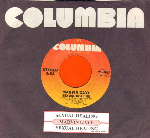 Gaye, Marvin - Sexual Healing/Sexual Healing (Instrumntal) (with juke box label and Columbia company sleeve) - EX8/ - 45 rpm Records