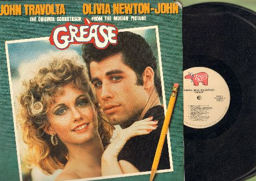 Grease - Grease - Original Motion Picture Soundtrack: Summer Nights, You're The One That I Want, Greased Lightning, We Go Together (2 vinyl STEREO LP records, gate-fold cover) - EX8/EX8 - LP Records