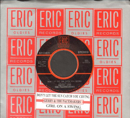 Gerry & The Pacemakers - Don't Let The Sun Catch You Crying/Girl On A Swing (double-hit re-issue with juke box label and company sleeve) - NM9/ - 45 rpm Records