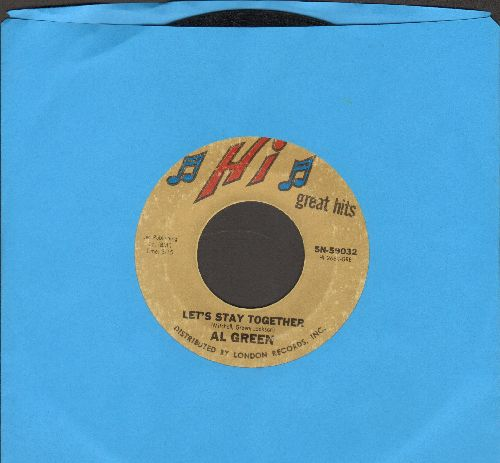 Green, Al - Let's Stay Together/I Can't Get Next To You (double-hit re-issue) - VG7/ - 45 rpm Records