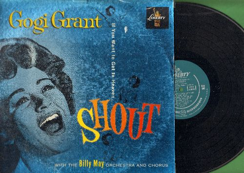 Grant, Gogi - Shout!: Swing Low Sweet Chariot, Ninety-Nine And A Half, Goin' Home, All God's Children Got Shoes (vinyl LP record, green label Microgroove first pressing) - EX8/VG7 - LP Records