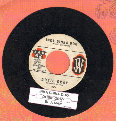Gray, Dobie - Inka Dinka Doo/Be A Man (DJ advance pressing with juke box label) - EX8/ - 45 rpm Records