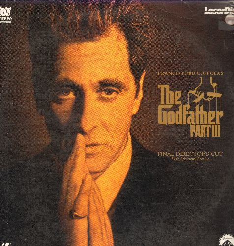 The Godfather Part III - The God Father Part III - LASERDISC version of the 3rd installment of Francis Ford Coppola's  Godfather Trilogy on 2 discs.  (THESE ARE LASERDISCS, NOT ANY OTHER KIND OF MEDIA!) - NM9/VG7 - LaserDiscs