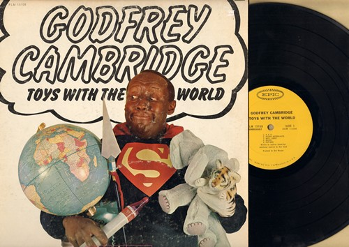 Cambridge, Godfrey - Toys With The World: Tarzan, Topless, Dieting, Negro Astronauts, Maids, Put-Ons, KKK, and other comedy routines (Vinyl MONO LP record) - EX8/VG7 - LP Records