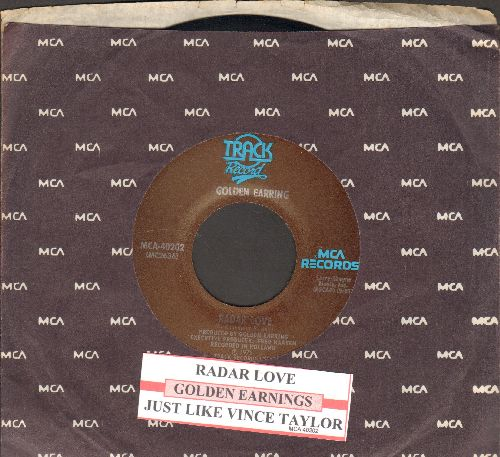 Golden Earring - Radar Love/Just Like Vince Taylor (with juke box label and MCA company sleeve) - EX8/ - 45 rpm Records