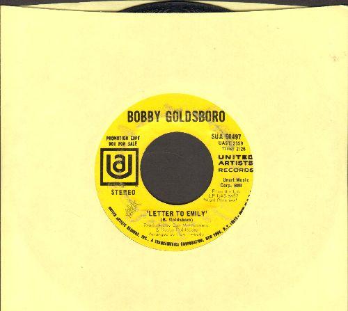 Goldsboro, Bobby - Letter To Emily/Glad She's A Woman (DJ advance pressing) - EX8/ - 45 rpm Records