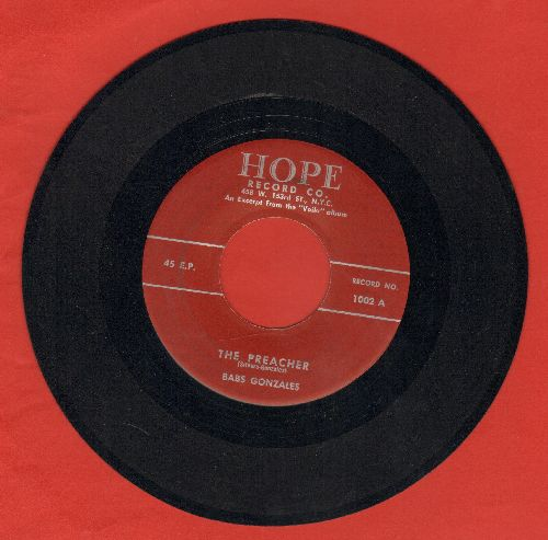 Gonzalez, Babs - The Preacher/Lullaby Of The Doomed - NM9/ - 45 rpm Records