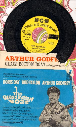 Godfrey, Arthur - Glass Bottom Boat/Tomorrow's OK By Me (DJ advance pressing with picture sleeve, upper right corner of picture sleeve torn) - NM9/G4 - 45 rpm Records