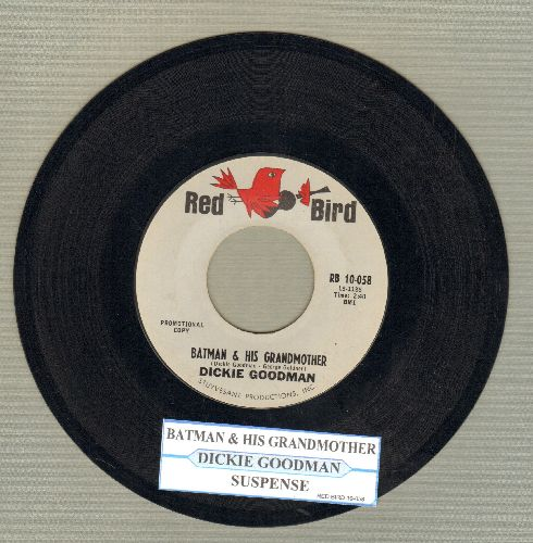 Goodman, Dickie - Batman & His Grandmother/Suspense (FANTASTIC cut-in Novelty two-sider with juke box label) - NM9/ - 45 rpm Records