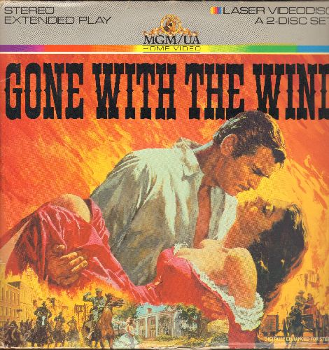 Gone With The Wind - Gone With The Wind - The Oscar Winning Classic starring Clark Gable and Vivian Leigh on 2 STEREO LASERDISCs - NM9/VG7 - LaserDiscs