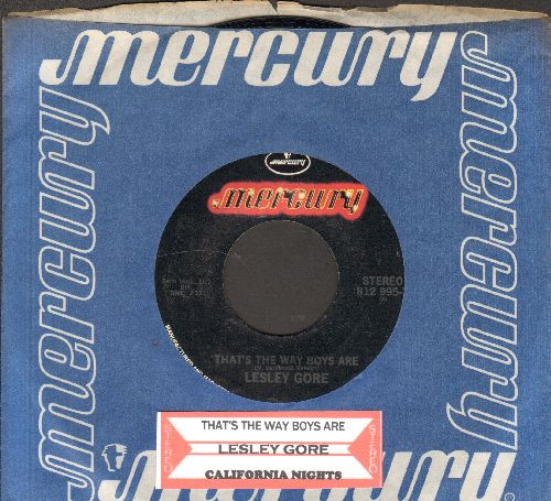 Gore, Lesley - That's The Way Boys Are/California Nights (re-issue with juke box label and company sleeve) - NM9/ - 45 rpm Records