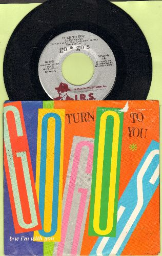 Go-Go's - Turn To You/I'm With You (with picture sleeve) - NM9/VG7 - 45 rpm Records