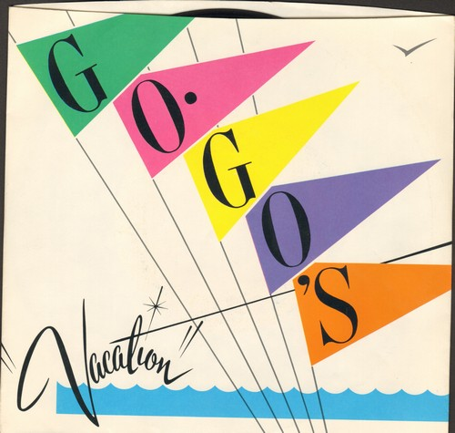 Go-Go's - Vacation/Beatnik Beach (with picture sleeve) - EX8/VG7 - 45 rpm Records