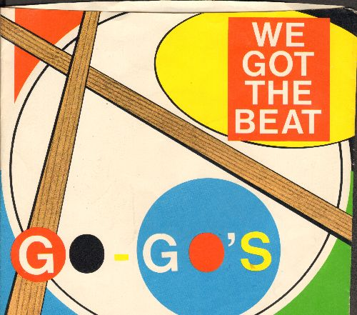 Go-Go's - We Got The Beat/Can't Stop The World (with picture sleeve) - NM9/NM9 - 45 rpm Records