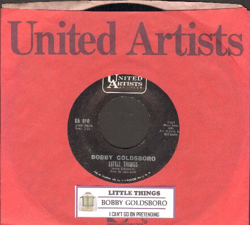 Goldsboro, Bobby - Little Things (That You Do)/I Can't Go On Pretending (with juke box label and United Artists company sleeve) - NM9/ - 45 rpm Records
