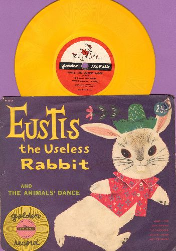 Lloyd, Anne & Mike Stewart with Mitch Miller & Orchestra - Eustis The Useless Rabbit/The Animals' Dance (5 inch 78 rpm Little Golden Record with picture sleeve) - EX8/EX8 - 78 rpm