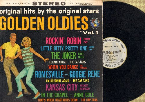 Day, Bobby, Turbans, Anne Cole, others - Golden Oldies Vol. 1: Rockin' Robin, Little Bitty Pretty One, When You Dance, Kansas City (Vinyl STEREO LP record) - NM9/EX8 - LP Records