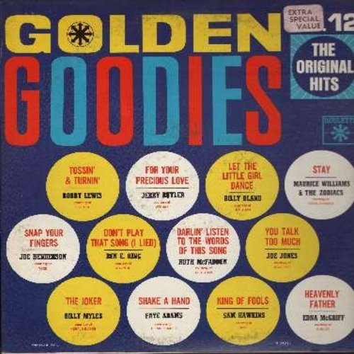 Lewis, Bobby, Jerry Butler, Joe Jones, Edna McGriff, Ben E. King, others - Golden Goodies Vol. 12: Tossin' & Turnin', For Your Precious Love, Stay, Heavenly Father, Shake A Hand, Snap Your Fingers, You Talk Too Much (Vinyl MONO LP record) - EX8/EX8 - LP R