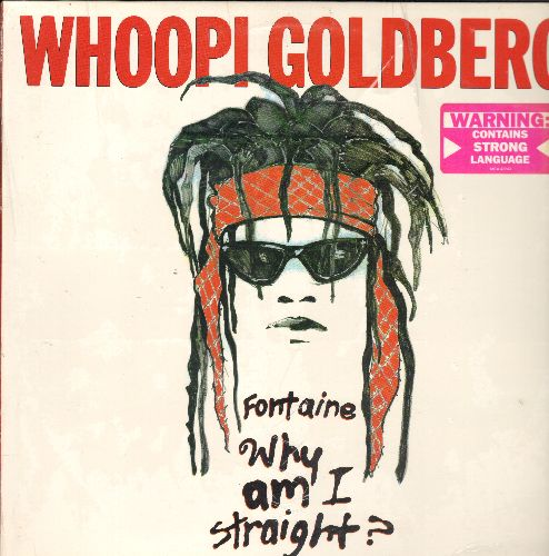 Goldberg, Whoopi - Fontaine - Why Am I Straight?: Original 1988 LIVE Stand-Up Comedy Recording, STRONG LANGUAGE Warning (Vinyl LP record, NICE condition!) - NM9/NM9 - LP Records