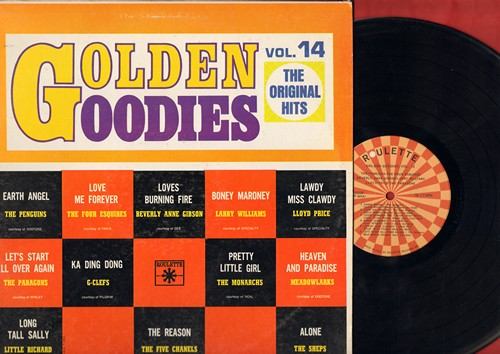 Penguins, Meadowlarks, Shepard Sisters, others - Golden Goodies Vol. 14: Earth Angel, Alone, Heaven And Paradise, Long Tall Sally, Love Me Forever (Vinyl LP record) - EX8/EX8 - LP Records