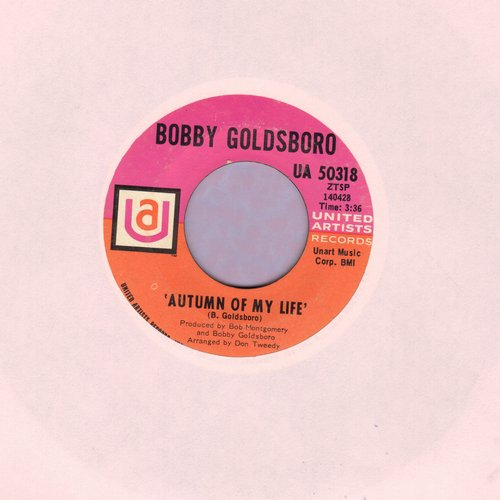 Goldsboro, Bobby - Autumn Of My Life/She Chased Me  - VG6/ - 45 rpm Records