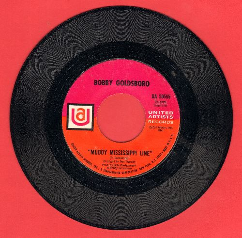 Goldsboro, Bobby - Muddy Mississippi Line/Richer Man Than I - NM9/ - 45 rpm Records