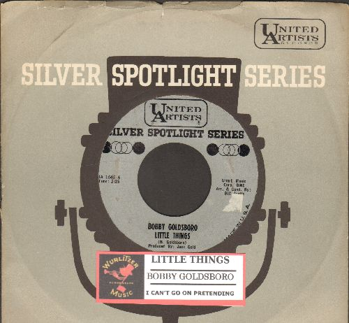 Goldsboro, Bobby - Little Things/I can't Go On Pretending (double-hit re-issue with United Artists company sleeve and juke box label) - EX8/ - 45 rpm Records