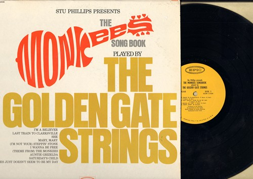 Golden Gate Strings - The Monkees Song Book: I'm A Believer, I Wanna Be Free, Last Train To Clarksville, (I'm Not Your) Steppin' Stone (Vinyl MONO LP record) - NM9/NM9 - LP Records