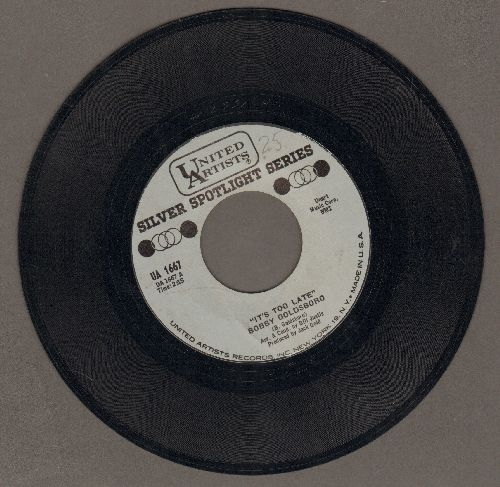 Goldsboro, Bobby - It's Too Late/I'm Going Home (early re-issue) - NM9/ - 45 rpm Records