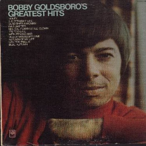 Goldsboro, Bobby - Solid Goldsboro - Bobby Goldsboro's Greatest Hits: It's Too Late, Voodoo Woman, Little Things, See The Funny Little Clown, If You Wait For Love (Vinyl STEREO LP record, black label first issue, NICE condition!) - NM9/NM9 - LP Records