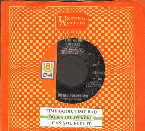 Goldsboro, Bobby - Time Good, Time Bad/Can You Feel It (with juke box label and United Artists company sleeve) - NM9/ - 45 rpm Records