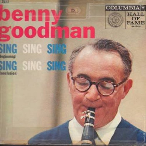 Goodman, Benny & His Orchestra - Sing Sing Sing (Beginning & Conclusion) (Vinyl EP record with picture cover) - EX8/VG7 - 45 rpm Records