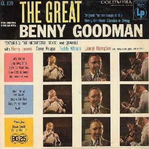 Goodman, Benny - The Great Benny Goodman: Let's Dance, Sing Sing Sing, One O'Clock Jump, Stompin' At The Savoy, Bugle Call rag (Vinyl MONO LP record, 6 eyes label) - NM9/EX8 - LP Records
