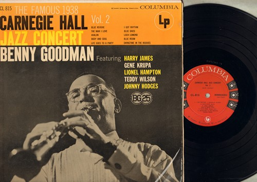 Goodman, Benny, Harry james, Gene Krupa, others - The Famous 1938 Carnegie Hall Jazz Concert Vol. 2: Blue Skies, I Got Rhythm, Body And Soul, Loch Lomond (Vinyl MONO LP record) - NM9/EX8 - LP Records