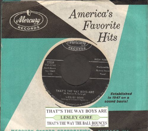 Gore, Lesley - That's The Way Boys Are/That's The Way The Ball Bounces (with juke box label and vintage Mercury company sleeve)(bb) - EX8/ - 45 rpm Records