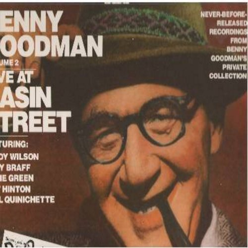Goodman, Benny - Live At Basin Street Volume 2: Let's Dance, Runnin' Wild, Sing Sing Sing, One O'Clock Jump, Stompin' At The Savoy, Body And Soul (Vinyl STEREO LP record, gate-fold cover, 1988 pressing of 1955 recordings) - NM9/NM9 - LP Records