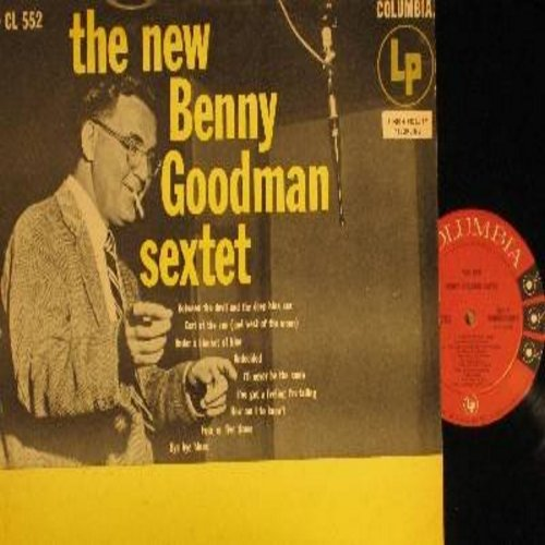 Goodman, Benny Sextet - The New Benny Goodman Sextet: Undecided, Between The Devil And The Deep Blue Sea, Bye Bye Blues, Under A Blanket Of Blue (Vinyl MONO LP record, red label, 6 eyes) (REPRESS) - NM9/VG7 - LP Records