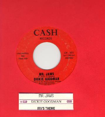 Goodman, Dickie - Mr. Jaws/Irv's Theme (with juke box label) - EX8/ - 45 rpm Records