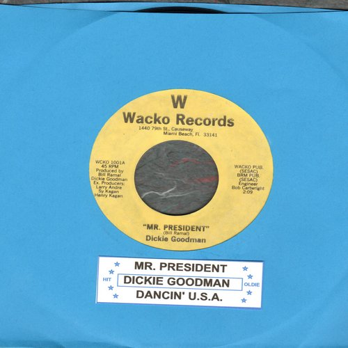 Goodman, Dickie - Mr. President/Dancin' U.S.A. (cut-in novelty with juke box label) - NM9/ - 45 rpm Records