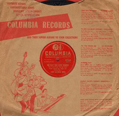 Lee, Peggy with Benny Goodman Sextet - The Way You Look Tonight/The Wang Wang Blues (10 inch 78 rpm record with Columbia company sleeve) - EX8/ - 78 rpm