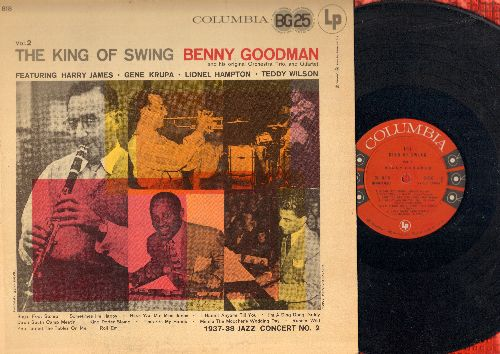 Goodman, Benny, Harry James, Gene Krupa, others - The King Of Swing Vol. 2: Sugar Foot Stomp, Runnin' Wild, Minnie The Moocher's Wedding Day, I'm A Ding Dong Daddy (vinyl MONO LP record) - EX8/EX8 - LP Records