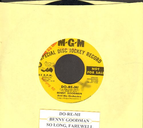 Goodman, Benny & His Orchestra - Do-Re-Mi/So Long, Farewell (DJ advance pressing with juke box label) - VG7/ - 45 rpm Records