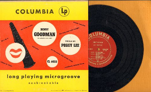 Goodman, Benny with Peggy Lee - My Little Cousin/Let's Do It/The Way You Look Tonight/Where Or When + 4 (10 inch LP record with picture cover) - EX8/EX8 - LP Records