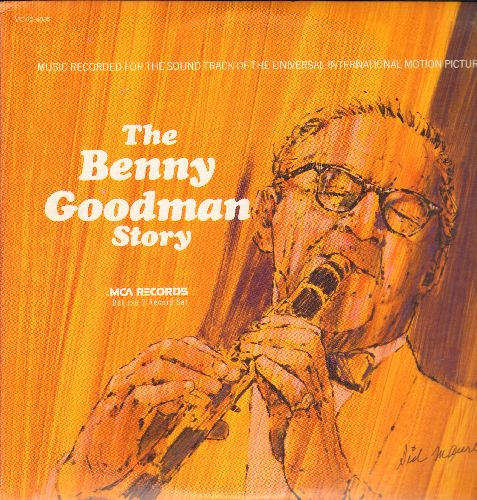 Goodman, Benny - The Benny Goodman Story - Original Motion Picture Sound Track: Let's Dance, Sing Sing Sing, Avalon, One O'Clock Jump, Goody Goody (2 vinyl LP records, 1980 pressing) - NM9/EX8 - LP Records