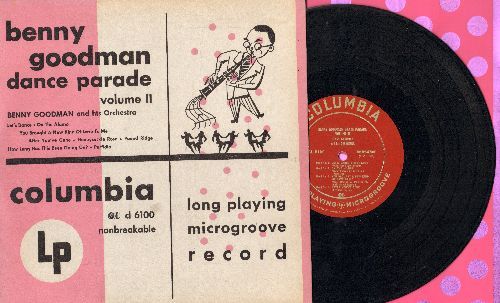 Goodman, Benny & His Orchestra - Benny Goodman Dance Party Vol. 2: Let's Dance/Perfidia/Honeysuckle Rose + 5 (10 inch 78 rpm record with picture cover) - EX8/EX8 - LP Records