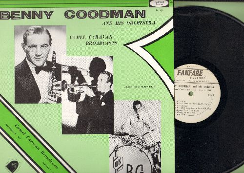 Goodman, Benny & His Orchestra - Camel Caravan Broadcasts November 16, 1937 and January 3, 1939 (vinyl LP record, 1977 reissue of Nostalgic Big Band Broadcast Recordings) - NM9/NM9 - LP Records