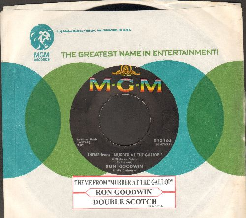 Goodwin, Ron - Theme From -Murder At The Gallop- (Miss Marple Theme)/Double Scotch (RARE vintage single release with MGM company sleeve and juke box label) - EX8/ - 45 rpm Records