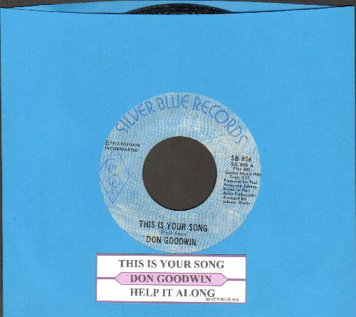 Goodwin, Don - This Is Your Song/Help It Along (with juke box label) - NM9/ - 45 rpm Records