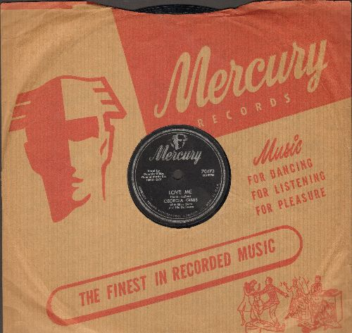 Gibbs, Georgia - Mambo Baby/Love Me (10 inch 78 rpm record with Mercury company sleeve)(sol) - EX8/ - 78 rpm